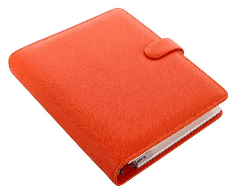 022585 Saffiano A5 Organiser Bright Orange