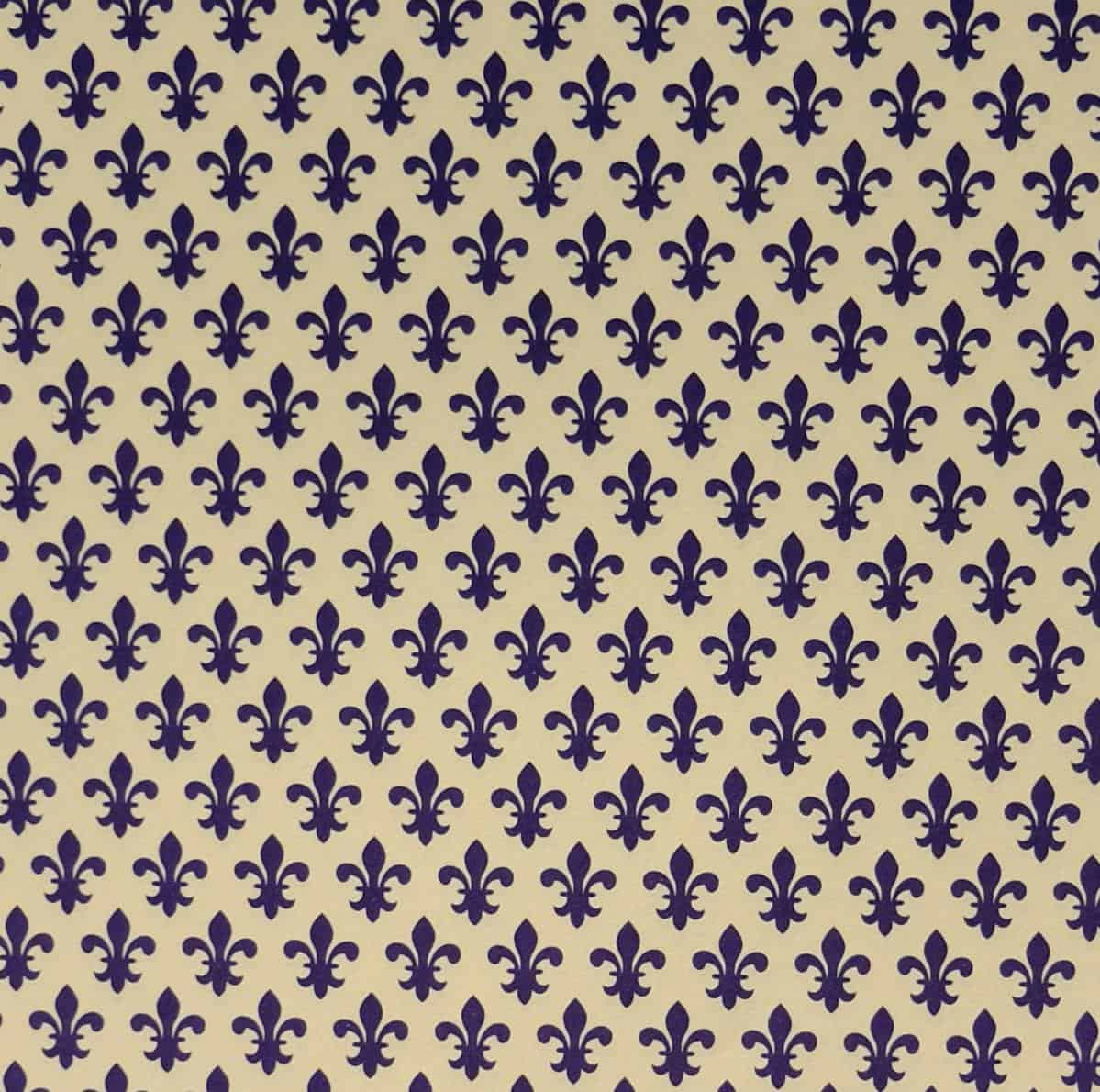 Carta Varese – Confezione da 5 fogli di carta Varese misura 100x70cm, peso carta: 100 g/mq. fantasia Giglio blu – 65GIBLU