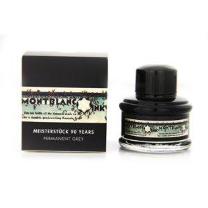 Montblanc – Boccetta di inchiostro Montblanc  grigio INDELEBILE, Edizione limitata 90 anni Meisterstuckda 35 ml – 111408