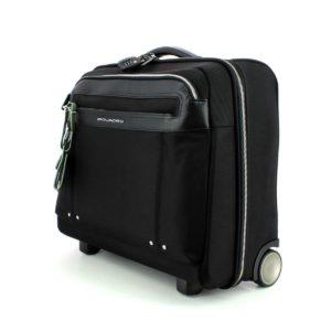 Piquadro – Cartella-trolley Piquadro CA3408LK/N porta computer e porta iPad®Air/Air2 con trolley system e lucchetto TSA. – CA3408LK/N