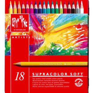 Caran d'Ache – Confezione da 18 pastelli Caran d'Ache  Supracolor Soft. – 3.888.318
