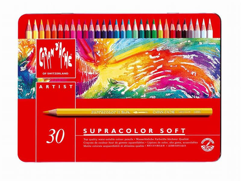 Caran d'Ache – Confezione da 30 pastelli Caran d'Ache  Supracolor Soft. – 3.888.330