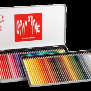 Caran d'Ache – Confezione da 80 pastelli Caran d'Ache Prismalo, in scatola di metallo. – 999.380