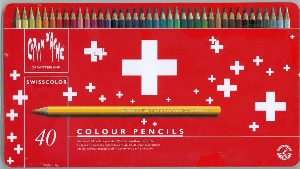 Caran d'Ache – Confezione da 40 pastelli Caran d'Ache Swisscolor – 1.285.740