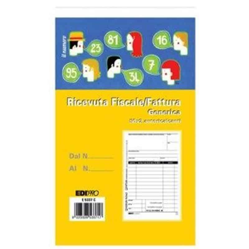 Edipro – Blocco fattura/ricevuta fiscale generica 50×2 autoricalcante – E5337C