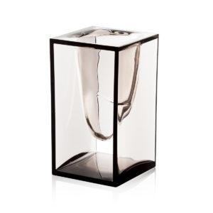 Lexon – LIQUID POT, bicchiere portapenne. Colore trasparente-grigio. – LD132G