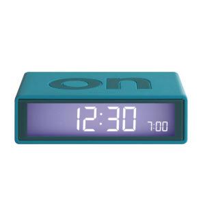 Lexon – Orologio sveglia  Flip Deco, sistema ON/OFF, colore anice. – LR130U7