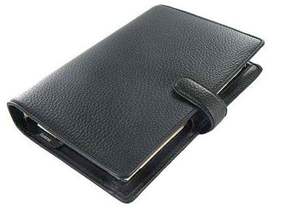 Filofax – Organizer Filofax Finsbury Personal in pelle colore nero – L025302