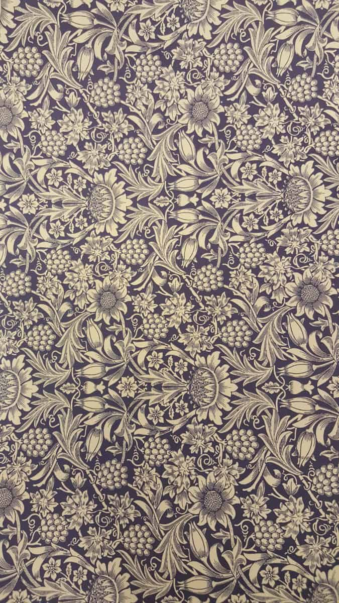 Carta Varese – Confezione da 5 fogli di carta Varese misura 100x70cm, peso carta: 100 g/mq. fantasia fiori e frutta blu. – 171FIOFRUBLU