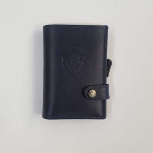 Whold – Portafoglio Whold modello wallet in pelle. Protezione RFID. Colore blu, finitura liscia – W109L/B
