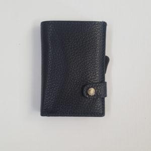 Whold – Portafoglio Whold modello wallet in pelle. Protezione RFID. Colore blu, finitura martellata – W109C/B