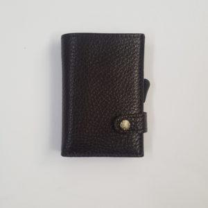 Whold – Portafoglio Whold modello wallet in pelle. Protezione RFID. Colore testa di moro, finitura martellata – W109C/TM