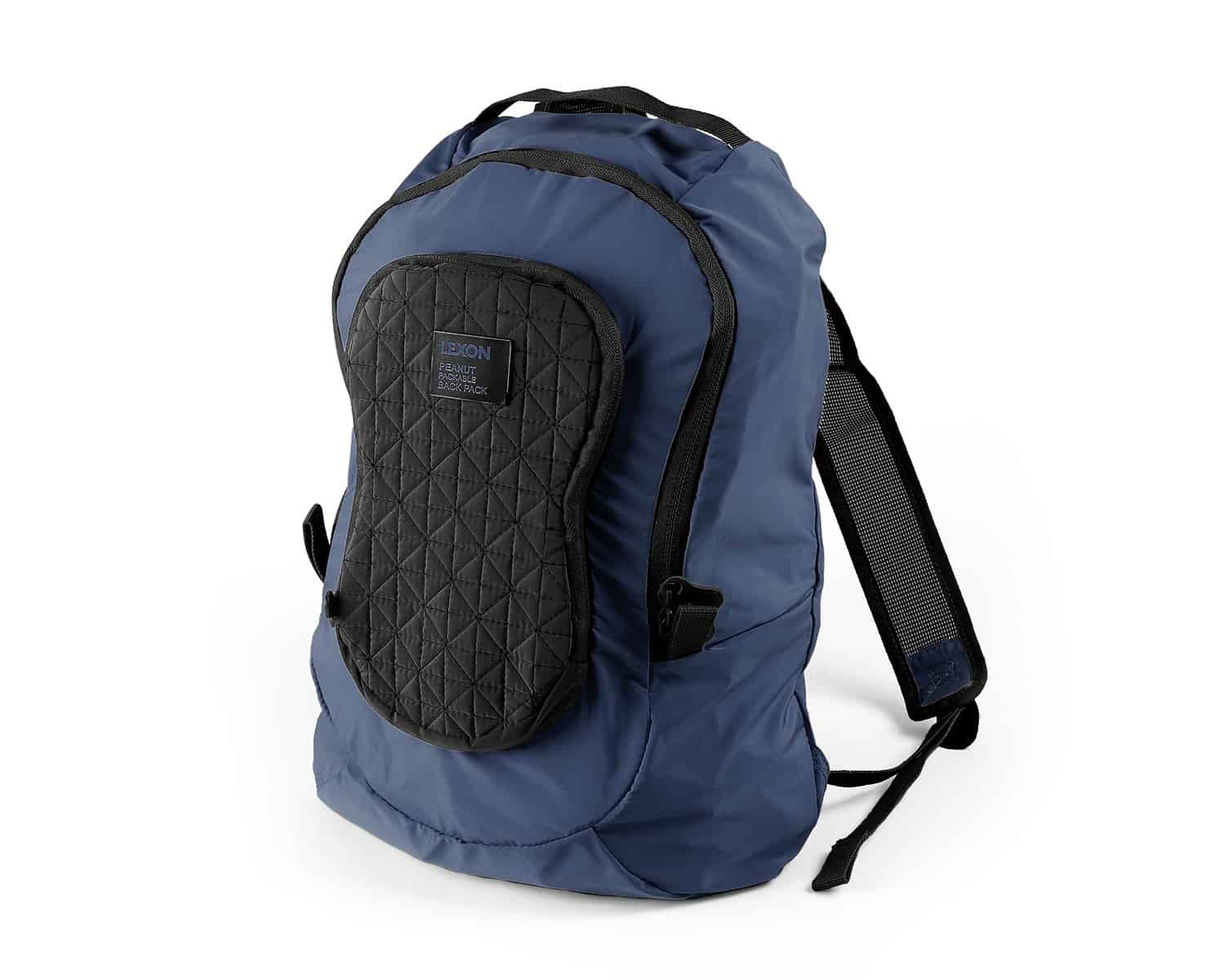Lexon – PEANUT BACKPACK Design by Luca Artioli. Lo zaino nocciolina, colore blu – LN1510B