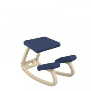 Varier – Seduta ergonomica Varier Variable Balance con rivestimento tessuto Revive blu e struttura in legno naturale – F000