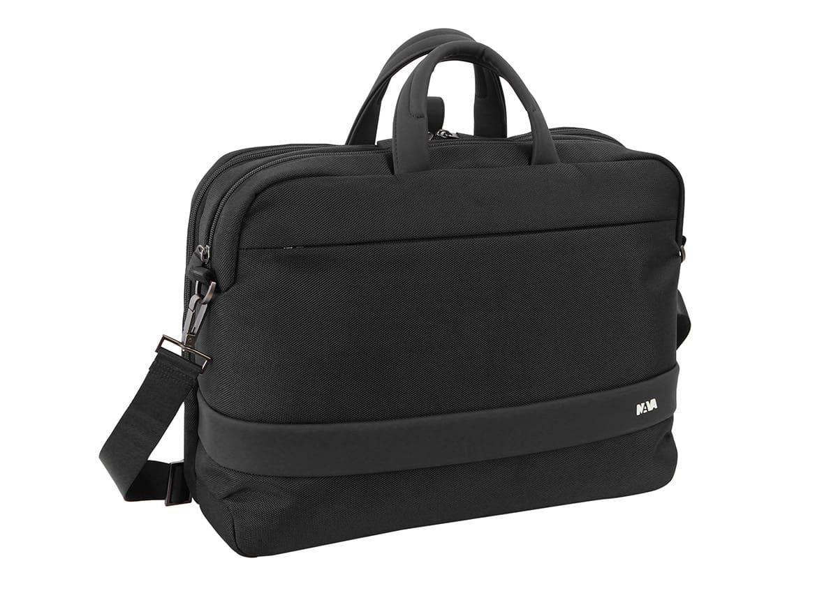 Nava Design – Cartella Nava Design Easy+, porta PC trasformabile in zaino, colore nero – EP069N