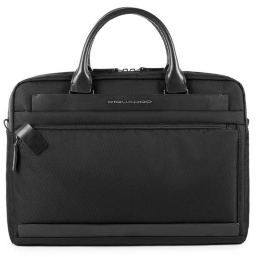 """Piquadro – Cartella Piquadro collezione Klout, porta computer e porta iPad®10,5''/iPad 9,7"""". Colore nero – CA3335S100/N"""
