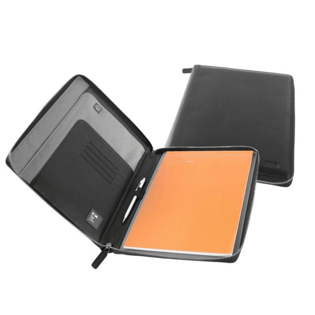 Nava Design – Porta blocco in pelle Nava A4 con cerniera – nero – SM875N