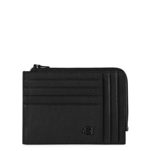 Piquadro – Portafoglio portamonete, documenti e carte di credito – PU1243B3/N