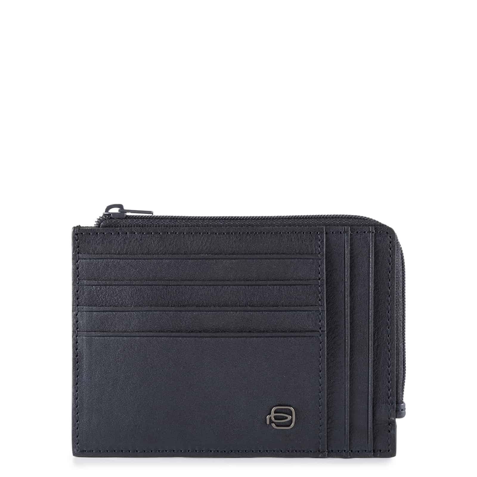 Piquadro – Portafoglio portamonete, documenti e carte di credito – PU1243B3/BLU