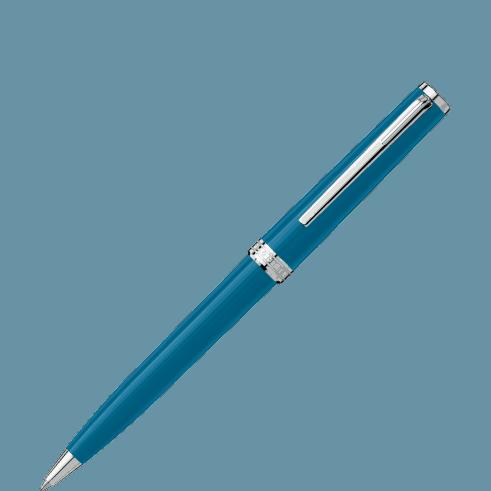 Montblanc – Penna a sfera Montblanc Pix  , blu petrolio – 119351