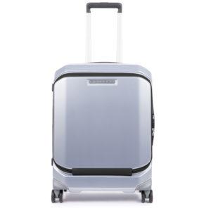 """Piquadro – Trolley cabina porta PC rigido con porta iPad®10,5""""/9,7"""" con protezione antiurto e lucchetto TSA, colore grigio – BV4736CB/GR"""