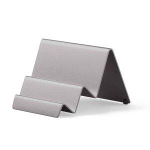Lexon – CITY CARD STAND design by Manuela Simonelli e Andrea Quaglio, porta biglietti da visita da tavolo in alluminio. Colore canna di fucile. – LD137X9