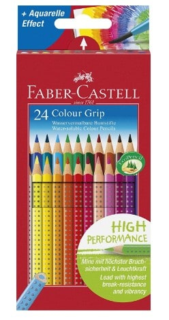 Faber Castell – Confezione da 24 matite colorate Colour Grip, Faber Castell – 11
