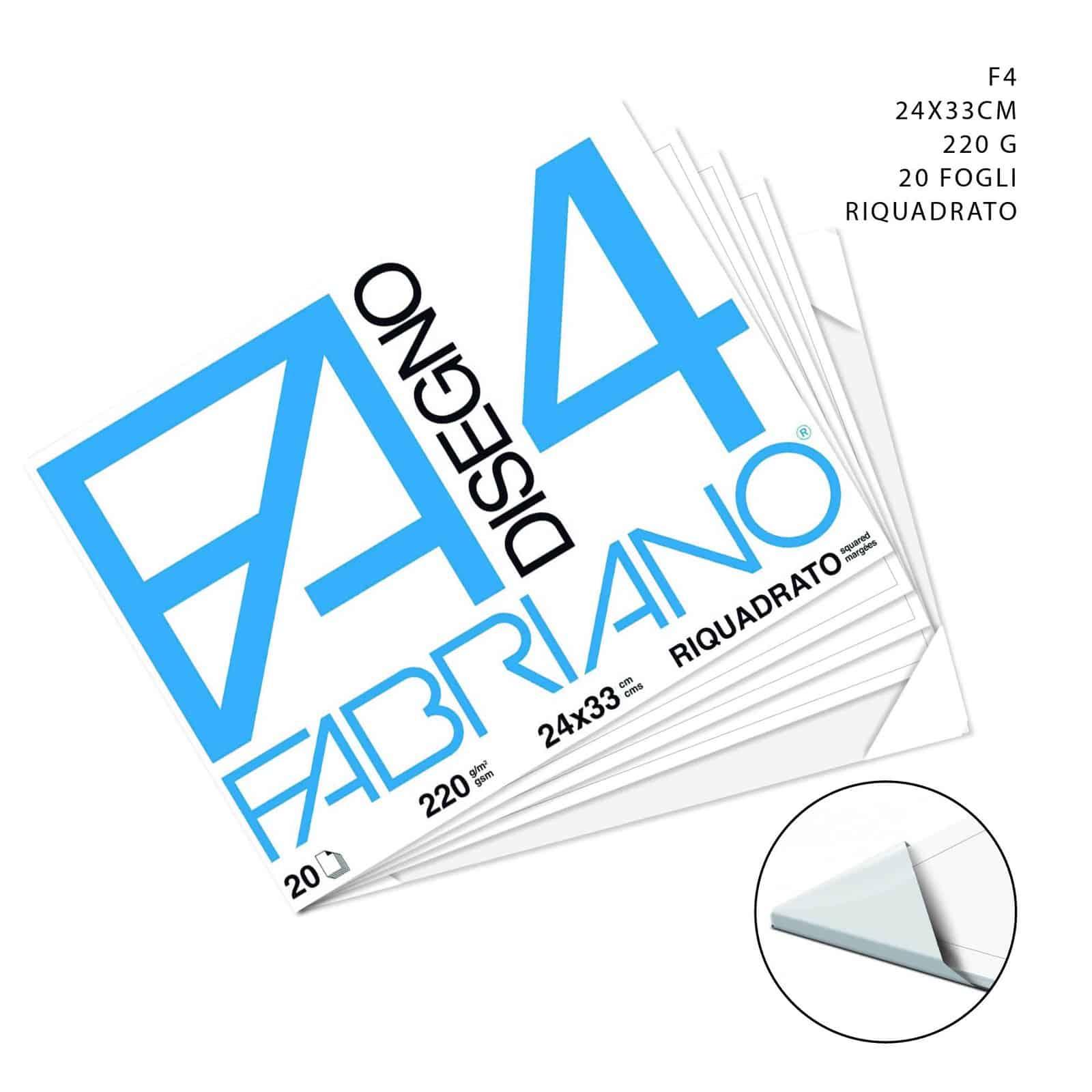 Fabriano – Album da disegno F4 RIQUADRATO LISCIO  24x33cm – 47084