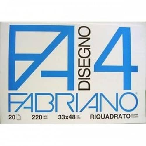 Fabriano – Album da disegno F4 LISCIO RIQUADRATO 33x48cm – 34935