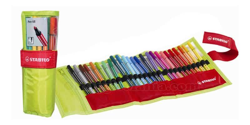 Stabilo – Stabilo Point 68, in rotolo da 25 pennarelli colorati, punta M – 26