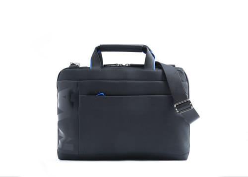 Nava Design – Cartella Nava Design  a 2 manici slim della linea Cross ,  Colore esterno nero con interno color blu elettrico – CO019NCB