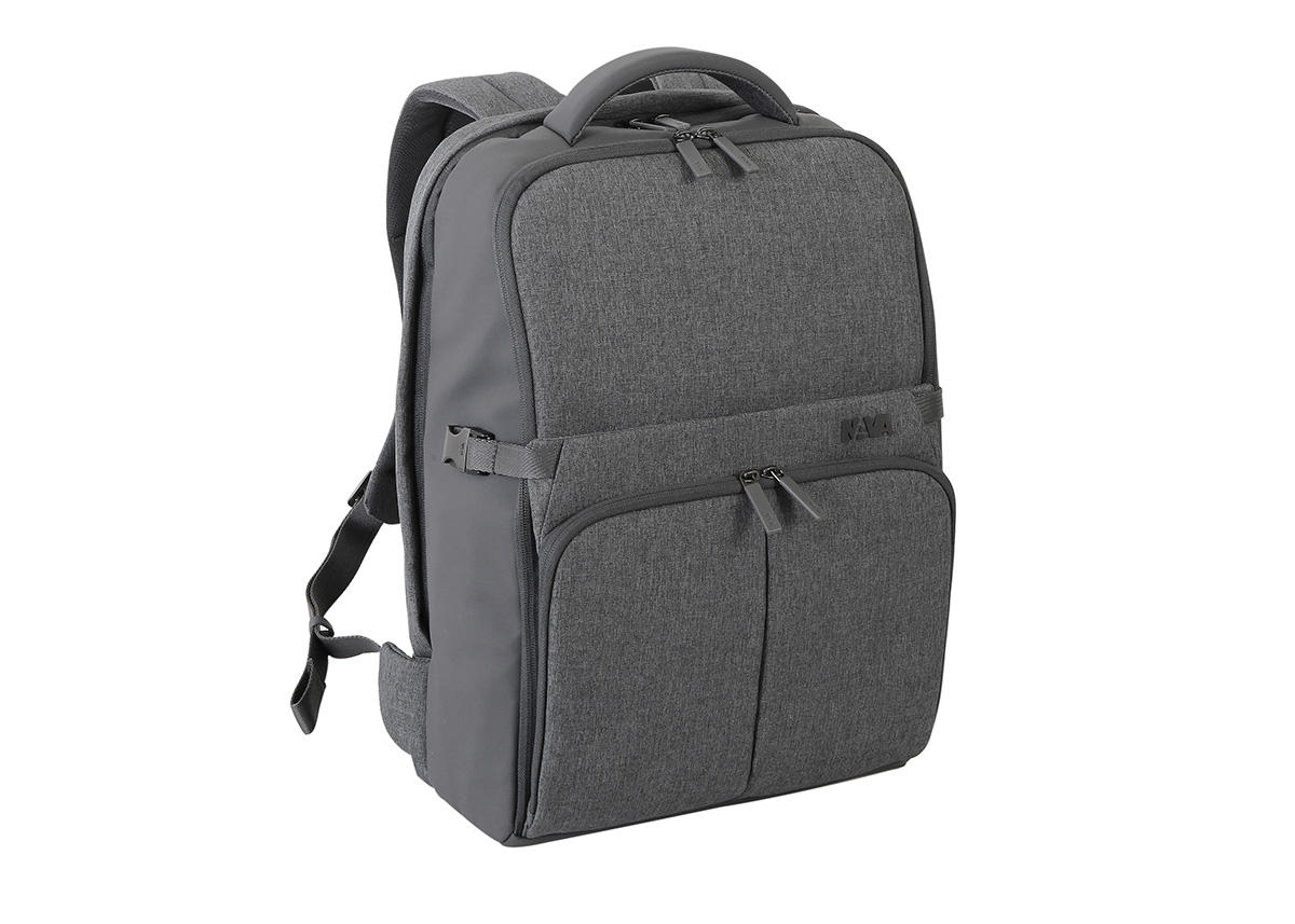 """Nava Design – Zaino Nava Design medium organizzato a 2 comparti della linea """"Duty"""" . Colore grigio chiaro – DU077G"""