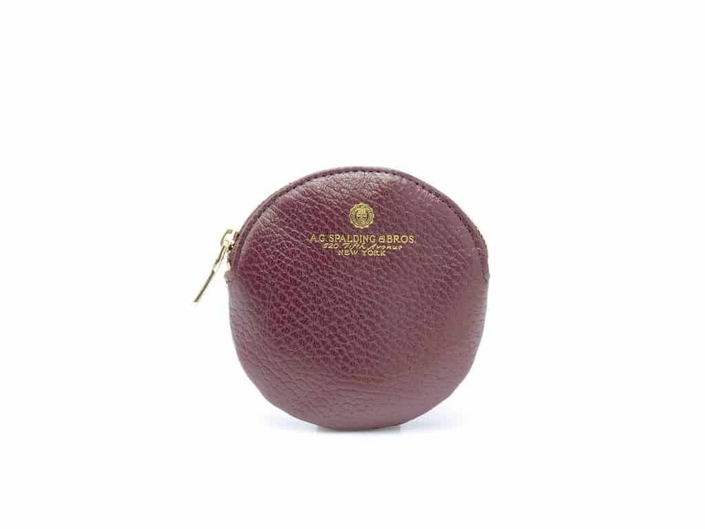 Spalding&Bros – Portachiavi tondo Spalding&Bros, collezione Tiffany, in pelle colore bordeaux – 173768U511