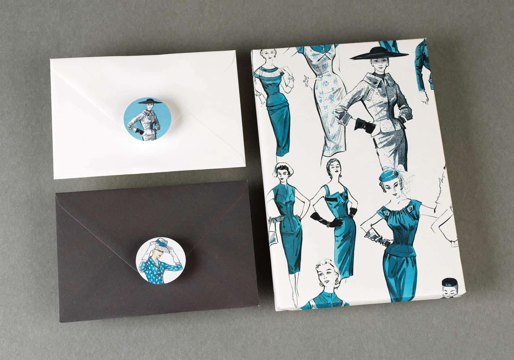 Pepin Press – Stickers Book – Vintage Fashion – 9,79E+12