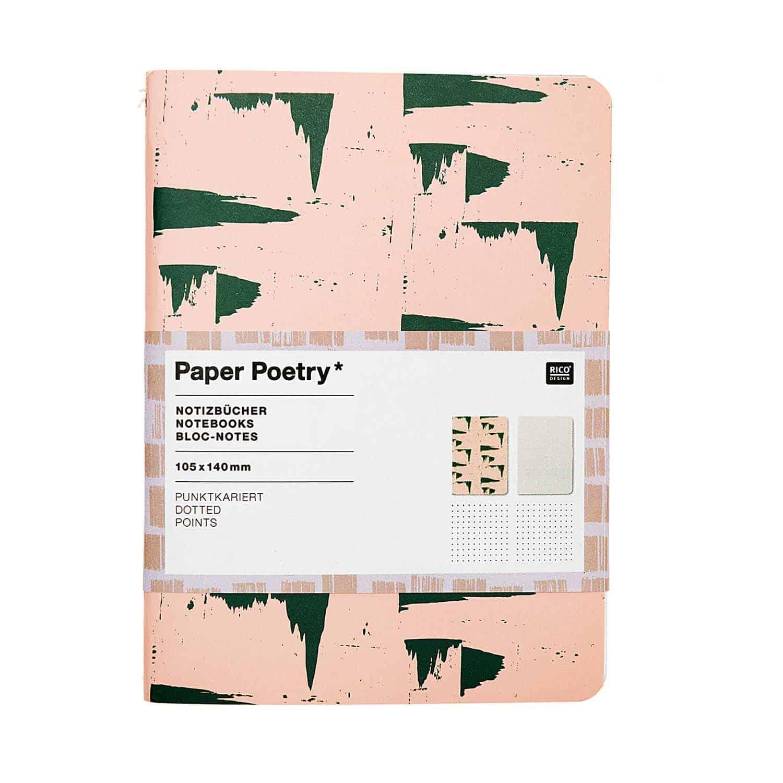 Rico Design – Set di quaderni Pink&Grey – 4,05E+12