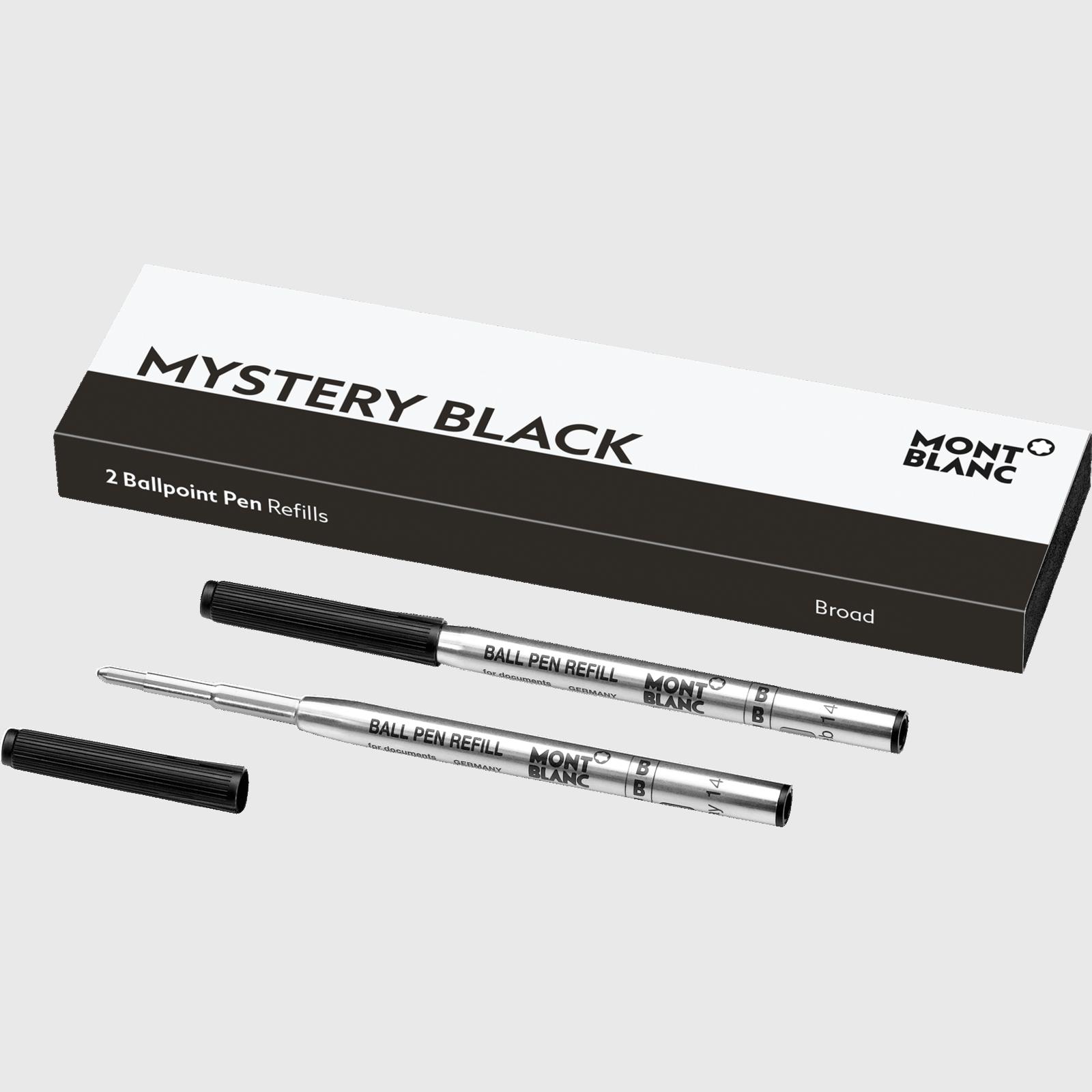 Montblanc – Montblanc Confezione con 2 refill per penna a sfera (B) Mystery Black (nero) – 116191