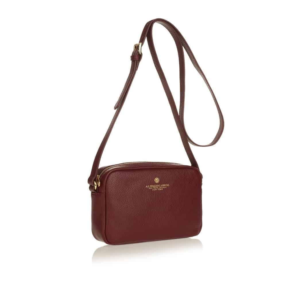 Spalding&Bros – Tracollina Spalding&Bros Cindy Bag, in pelle colore Bordeaux. – 173771U511