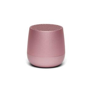 Lexon – MINO+ speaker bluetooth con doppia modalità di ricarica , colore rosa satinato – LA125LP