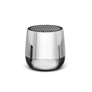 Lexon – MINO+ speaker bluetooth con doppia modalità di ricarica , colore metal chrome – LA125MC