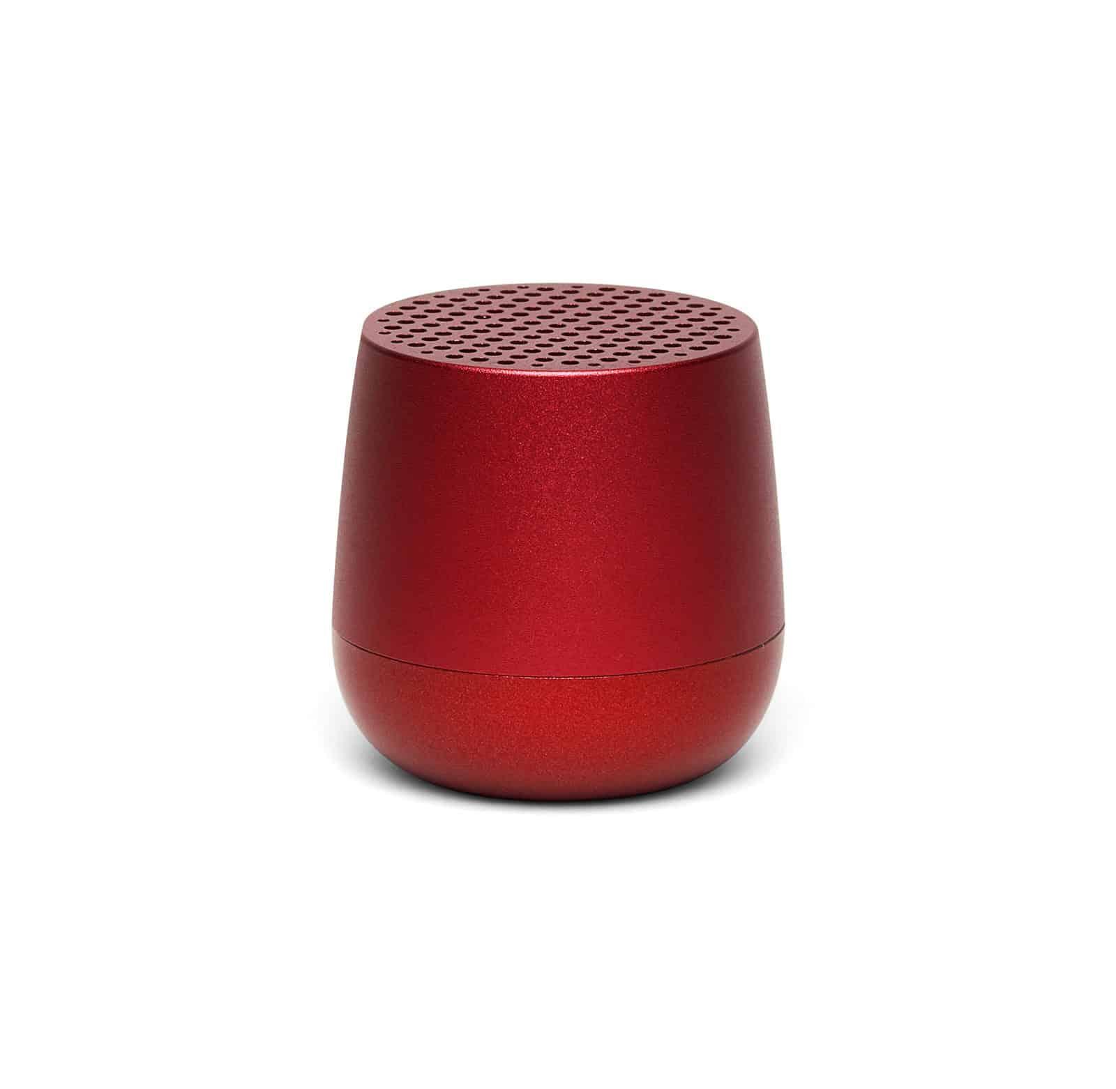 Lexon – MINO+ speaker bluetooth con doppia modalità di ricarica , colore rosso satinato – LA125R