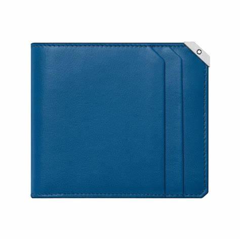 Montblanc – Portafoglio Montblanc  6 scomparti Meisterstück Urban Cobalt Blue. – 124090